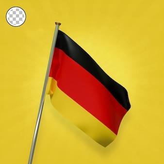 3d render elegante bandera de alemania