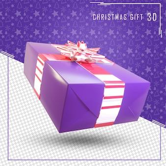 3d render geschenkdoos voor merry christmas