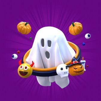 3d render ghost halloween-illustratie