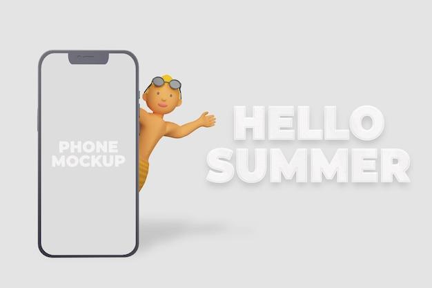 3d render hallo zomerbanner