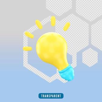 3d render icoon lamp idee