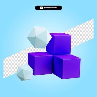 3d render ilustración de elemento geométrico aislado