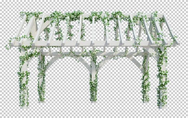 3d render klimop planten geïsoleerd