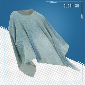 3d render man kleren vliegen in de lucht
