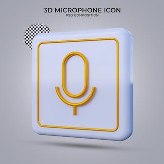 3d render megafoon pictogram geïsoleerd