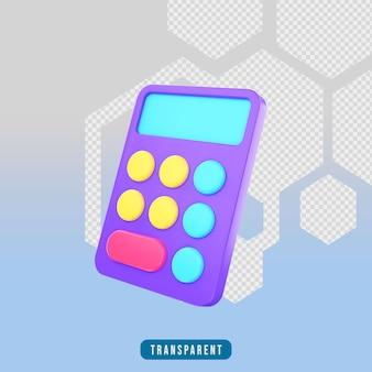 3d render pictogram rekenmachine