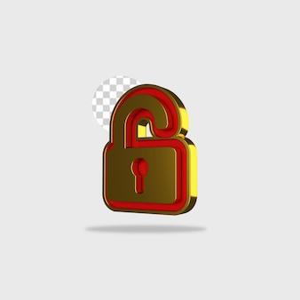 3d render pictogram slot ontwerp