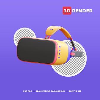 3d render pictogram virtual reality-bril