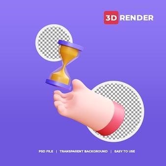3d render pictogram zandloper