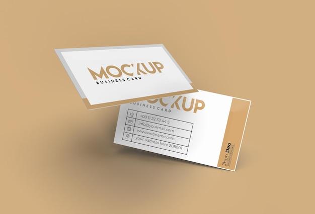 3d render stack visitekaartjes mockup ontwerp.