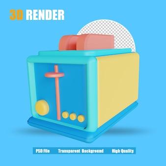 3d render toaster