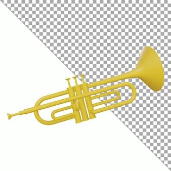 3d render trompet uitknippad