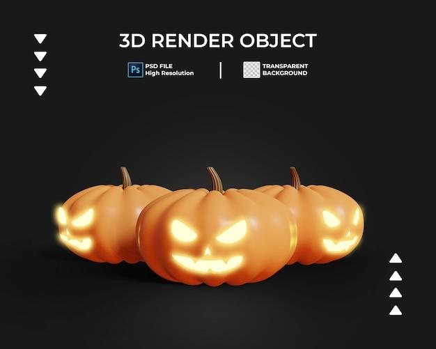 3d render van halloween pictogram geïsoleerd