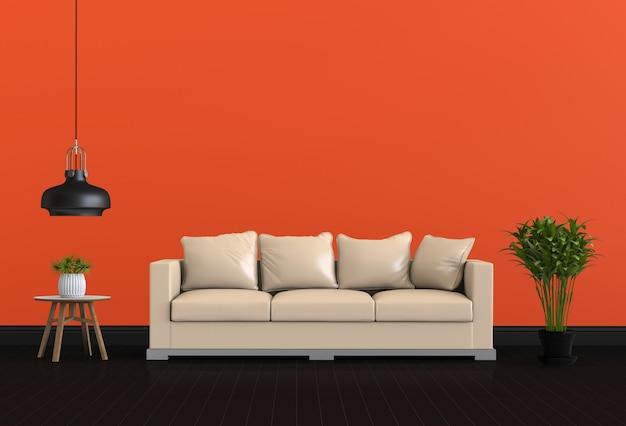 3d render van interieur moderne woonkamer kleur kamer