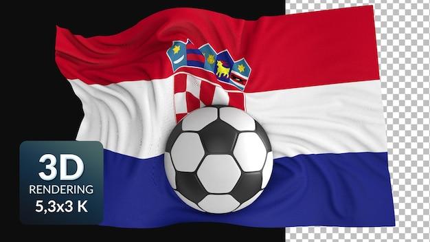 3d render wereld vlag voetbal voetbal