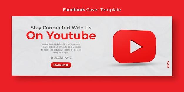 3d render youtube zakelijke promotie voor sociale media facebook omslagsjabloon