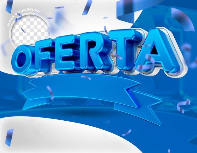 3d-renderaanbiedingen voor campagne voor algemene winkels op sociale media in het portugees Premium Psd