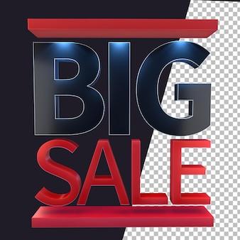 3d-rendering banner verkoop ontwerpelement