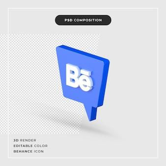 3d-rendering behance logo geïsoleerd pictogram