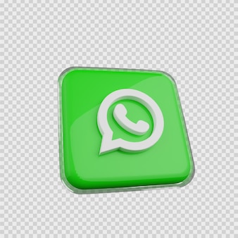 3d-rendering concept sociale media icoon whats app
