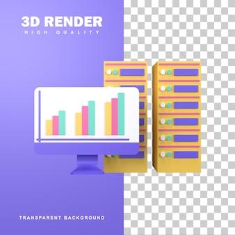 3d-rendering datacenterconcept.
