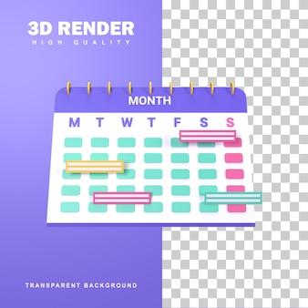 3d-rendering door een regelmatig schema in te stellen.