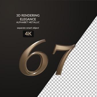 3d-rendering elegantie metalen alfabet script