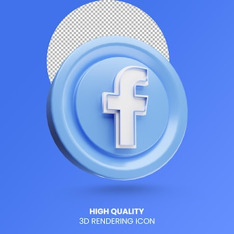 3d-rendering facebook social media logo icoon