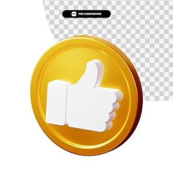 3d-rendering facebook zoals pictogram geïsoleerd