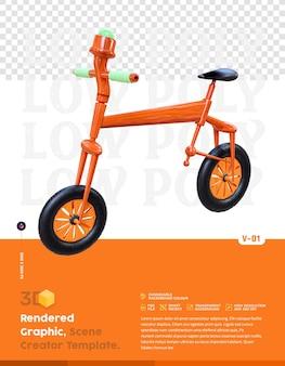 3d-rendering fiets