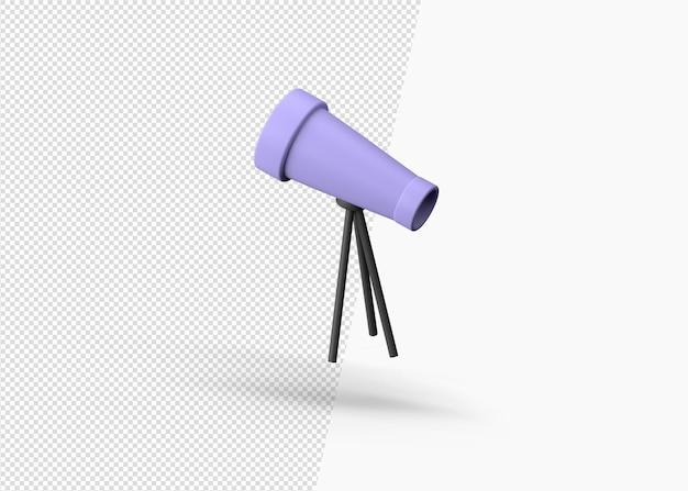 3d-rendering geïsoleerd telescoop pictogram