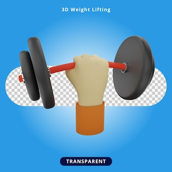 3d-rendering gewichtheffen illustratie