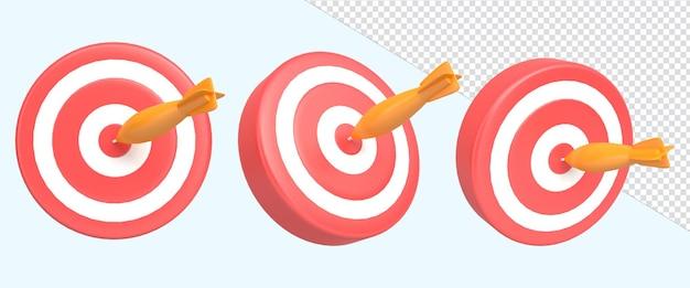 3d-rendering illustratie pictogram pijl