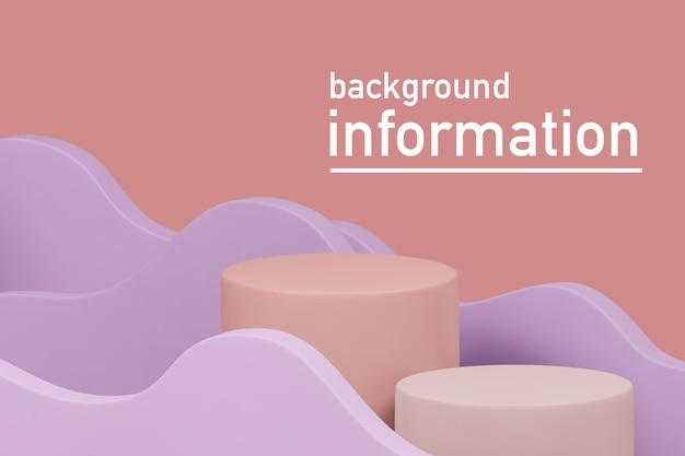 3d-rendering illustratie van podium display showcase voor productplaatsing in minimaal design
