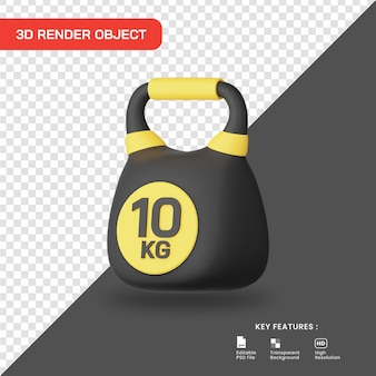 3d-rendering kettlebell pictogram