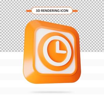 3d-rendering klok schoon pictogram