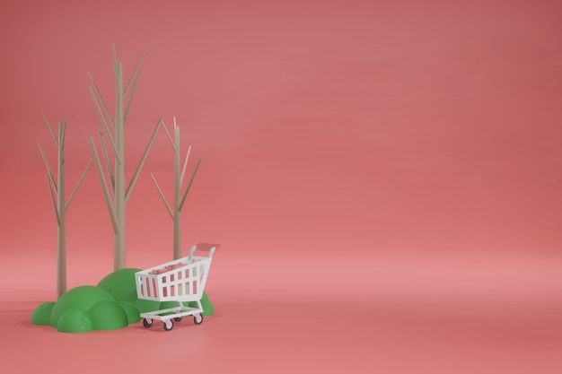 3d-rendering lege ruimte sjabloon mockup voor productplaatsing