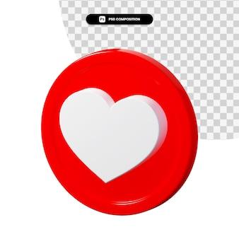 3d-rendering liefde pictogram geïsoleerd