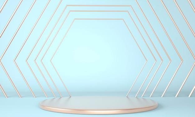 3d-rendering met geometrische vormen voor productpresentatie