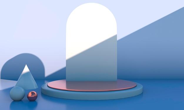 3d-rendering met geometrische vormen