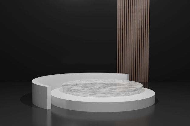 3d-rendering minimalistisch podium voor productplaatsing