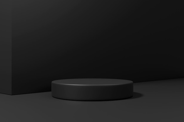 3d-rendering minimalistisch podium