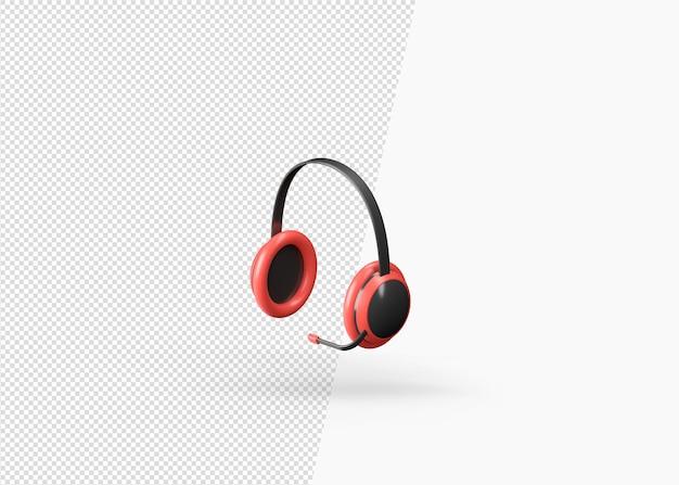 3d-rendering modern realistisch hoofdtelefoonmodel
