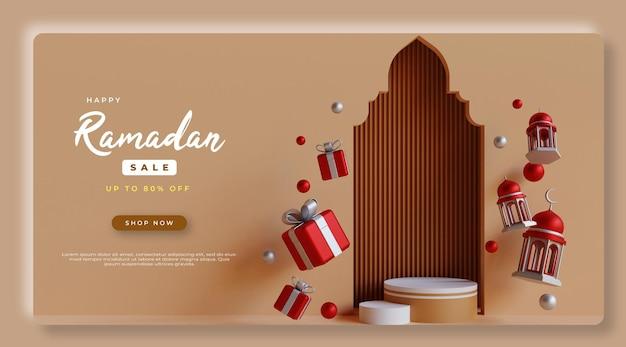 3d-rendering ramadan kareem verkoop psd