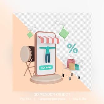 3d-rendering ramadan verkoop