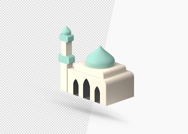 3d-rendering realistisch islamitisch moskeeontwerp