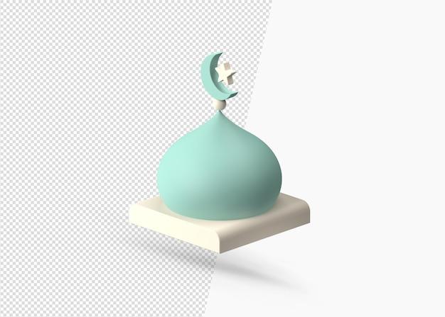 3d-rendering realistisch moskeeontwerp