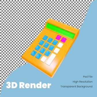 3d-rendering rekenmachine icoon voor bedrijven