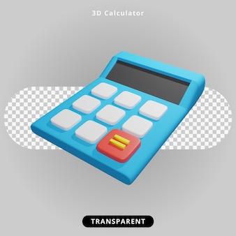 3d-rendering rekenmachine illustratie