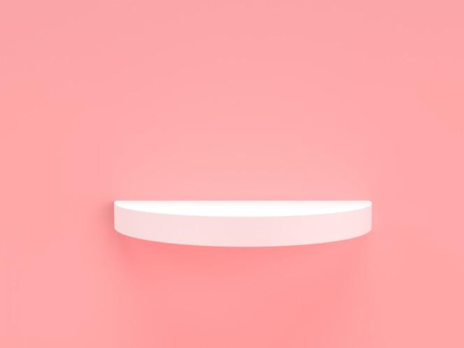 3d-rendering roze pastel en wit product staan op de achtergrond.